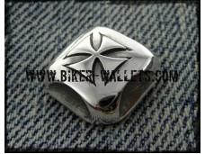 Baron Bws-21 Sterling Silver Biker Wallet Snap