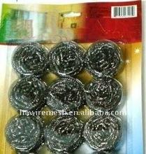 12 pcs opp packing stainless steel scourer