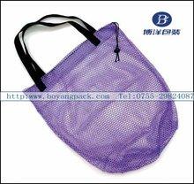 purple tote folding mesh shopping bags