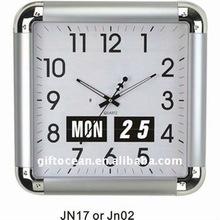 flip calendar analog wall clock dual function wall clock