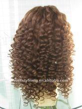 Indian virgin hair glueless full lace wig