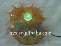 mini decorative fountain with lights ball