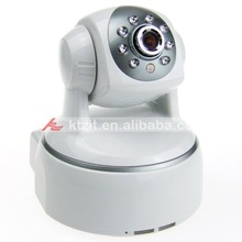 IP Camera 802.11a/b/g WIFI+LAN 300KP H.264with Audio and 8-LED Night Vision