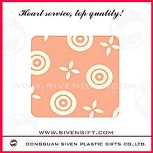 Practical sample fashion pvc coaster Pink