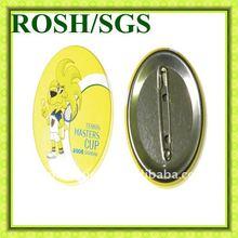 Children yellow monkey button badge