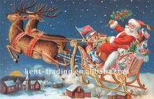 Hot Selling Christmas Santa Claus Gift Polyester Mat Carpet Rug