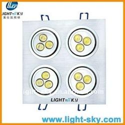 13w 220v led recessed down light