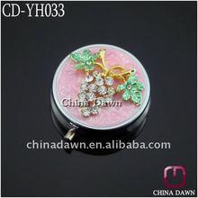 Metal Round diamond Fruit Jewelry Pill Box CD-YH033