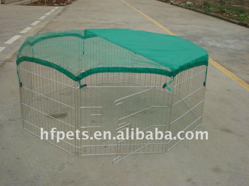 metal pet play pen with green net,pet cage,metal pet enclosure