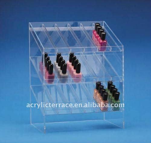 Stand acrylique de compteur de vernis ongles bo tes - Boite de rangement pour vernis a ongle ...