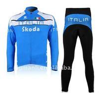 Pro team long sleeve winter cycling wear,bike gear,bicycle suit