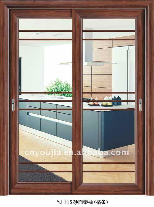 Puerta corredera de cristal para el interior de la cocina - Puerta corredera cristal bano ...