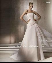 2012 Embellished pleated chiffon strapless design baju pengantin XZ-wd1519