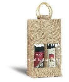 Fashion Design Jute Wine Tote Bag