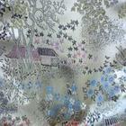 Brocade Satin with flower pattern