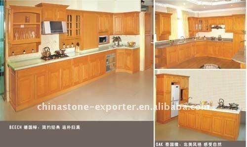 cuisine moderne en bois h tre avec des id es int ressantes pour la conception de. Black Bedroom Furniture Sets. Home Design Ideas
