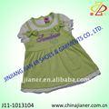 100% de algodón vestido de niña de nuevo diseño