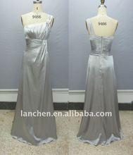 2012 Stretch Satin One Brooch Prom Dress