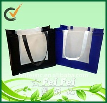 Non woven tote bags promotion with different color handles