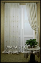 2012 new style polyester linen embroidery curtain fabric