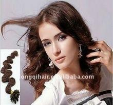 brown fashion U-tip/nail-tip hair extension