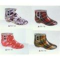 Mulheres pvc jardim moda botas de tornozelo
