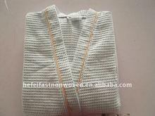 waffle cotton bathrobe