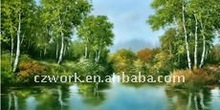 Scenery embroidery pictures / decorative painting for wall hangings