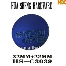 2012 HS newest design metal covered buttons
