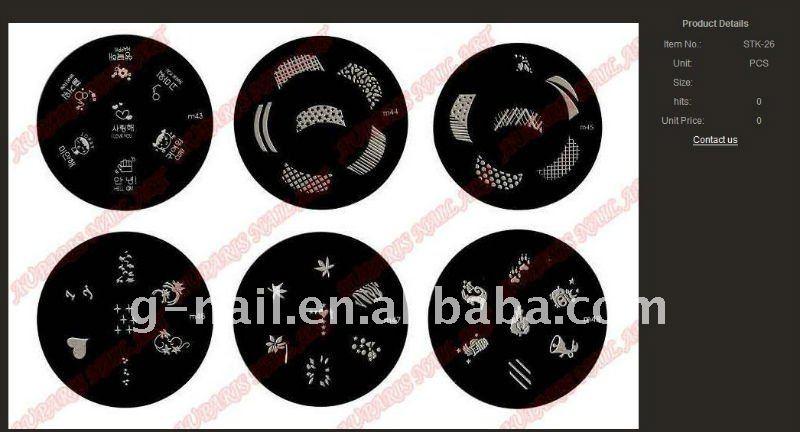 2011 konad nail art products ---stamping plate