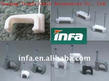plastic nail hook cable clip