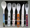 Melamina niño/los niños/cuchara del bebé de tenedores cuchillos conjunto