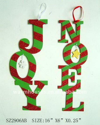 Grandes letras decorativas