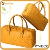Ostrich leather bag satchel style