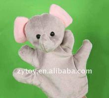 Plush elephant hand puppet