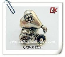 Fashion alloy antique silver man ring (QXRG11228)