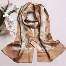 High quality brand men's silk scarf OEM