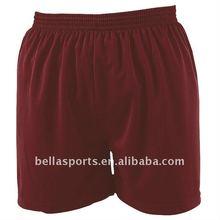 2012 Newest Fashion Customized 100% Polyester Plain Football Shorts