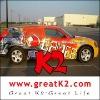 wholesale bubble free Vehicle wraps(Transparent) car decoration sticker ,polymeric car wrap vinyl film