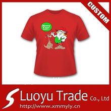 Wholesale Fashion New Design Men's Cotton net Christmas T Shirt