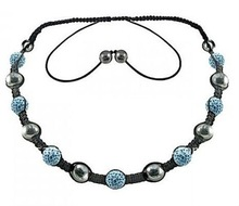 Shamballa necklace with crystal balls