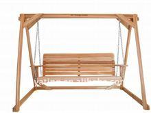 outdoor wooden swing