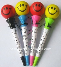 promotional smile face pen with logo printing