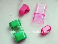 Oval Shape Pencil Sharpener W/Eraser