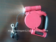 flashlight pet leash with waste bag dispenser