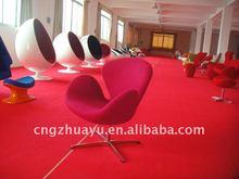 swivel lounge armchair Swan chair red