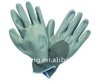 13g grey nitrile gloves, 3/4 knuckle coated