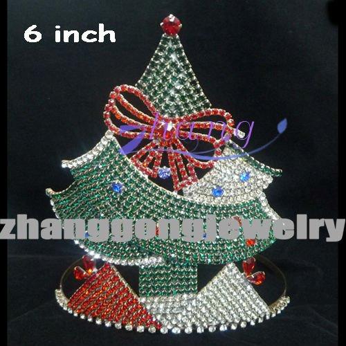 colored stone Christmas tree diamond crown