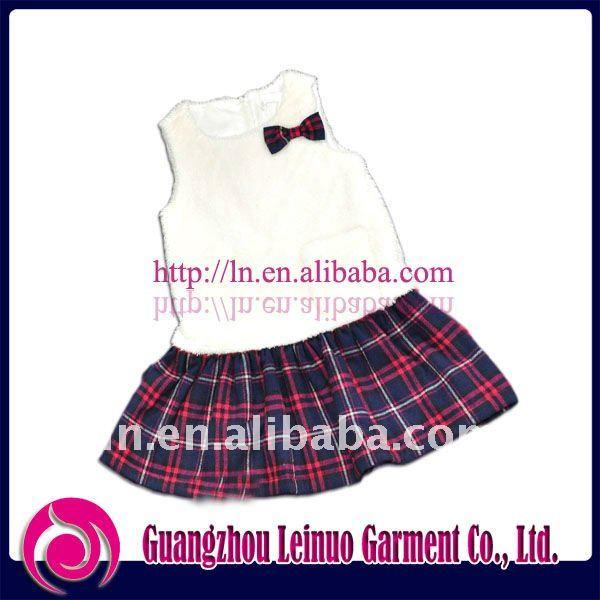 Fashion winter lovely girls kids dress