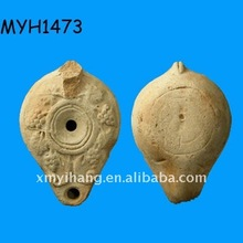 2011 new fashion terracotta ancient roman pottery oil lamp